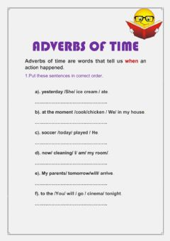 Interactive worksheet Adverbs of time