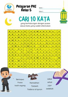 Interactive worksheet Puasa Ramadhan
