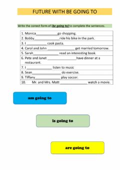 Interactive worksheet Future with going to
