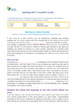 Interactive worksheet Reading Vocabulary Lesso