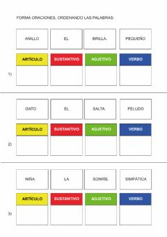 Interactive worksheet Formar oraciones
