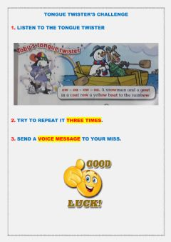 Interactive worksheet Tongue Twister