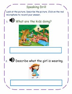 Interactive worksheet Speaking Drill