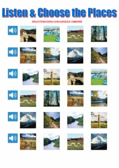 Interactive worksheet Listen and choose the countryside places tiger macmillan 3