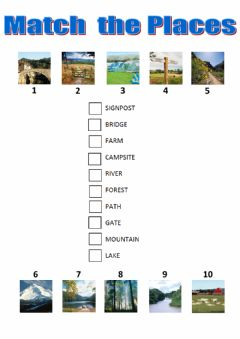 Interactive worksheet Match the countryside places tiger 4 macmillan