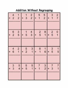 Interactive worksheet Addition without Regrouping