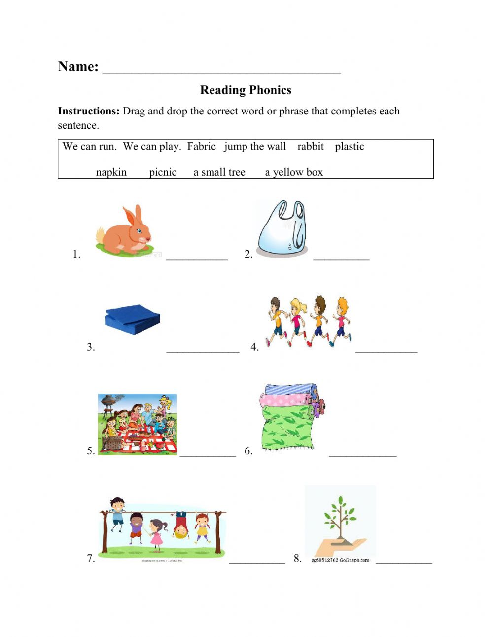 Phonics Sight Words Worksheet