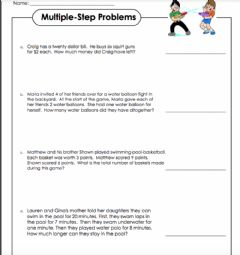 Interactive worksheet LW Multi-Step Word Problem Assignment