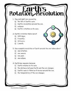 Interactive worksheet Earths Rotation and Revolution