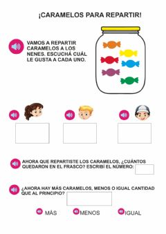 Interactive worksheet Repartimos caramelos
