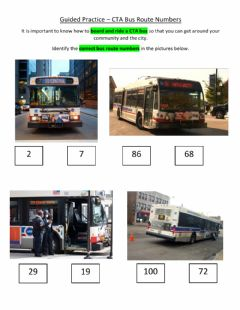 Ficha interactiva Guided Practice - CTA Bus Route Numbers