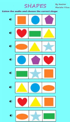 Interactive worksheet Shapes to kids