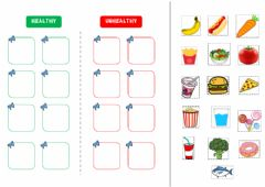 Interactive worksheet Healthy and unhealthy