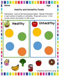 Interactive worksheet Healthy and Unhealthy Foods