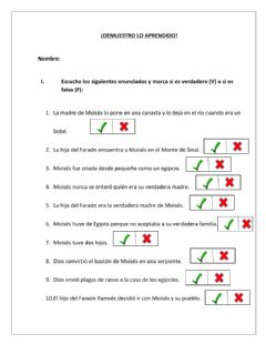 Interactive worksheet El profeta moises