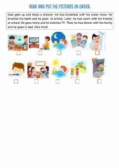 Interactive worksheet Put the routines in order