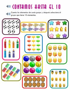 Interactive worksheet Contamos hasta 10