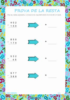 Interactive worksheet Prova de la resta