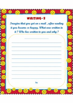 Interactive worksheet 6th Grades 5st Writing Topic