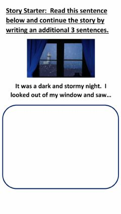 Interactive worksheet Story Starter 1