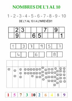 Interactive worksheet Númeració