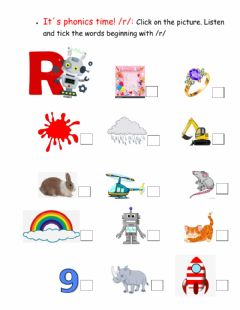 Interactive worksheet It-s phonics time -r