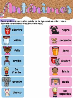 Interactive worksheet Antonimos