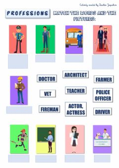 Interactive worksheet Professions