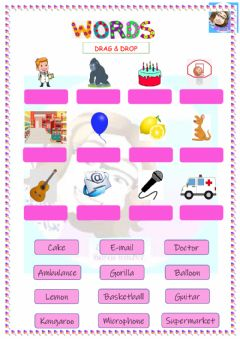 Ficha interactiva Grade 2-Words