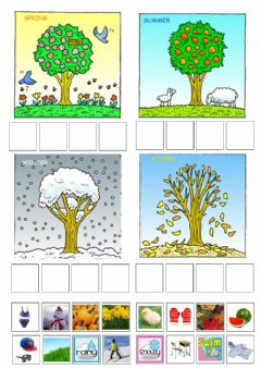 Interactive worksheet Seasons Sort