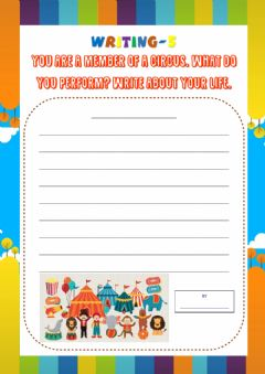 Interactive worksheet Writing-5 for 5th Grades