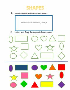 Interactive worksheet All Shapes