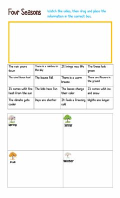 Interactive worksheet Four seasons