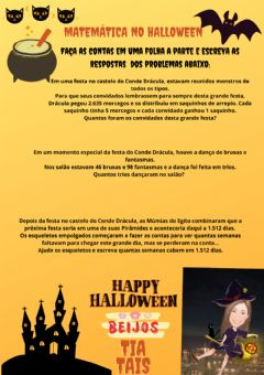 Interactive worksheet Problema de divisão - Halloween