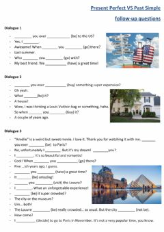 Interactive worksheet Present Perfect + Past Simple