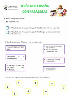 Interactive worksheet Las parábolas