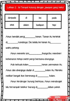 Interactive worksheet Kata Sendi Nama