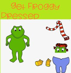 Interactive worksheet Froggy gets dressed