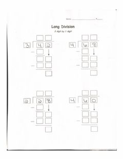 Interactive worksheet Long Division 2 digit by 1 digit No Remainder