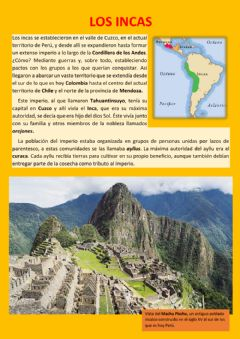 Interactive worksheet Los incas