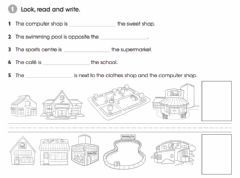 Interactive worksheet Next  to - Opposite