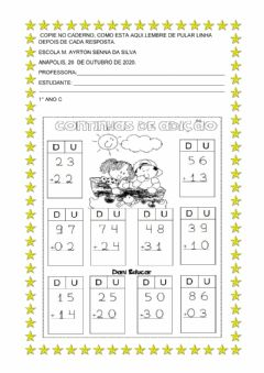 Interactive worksheet Vamos somar