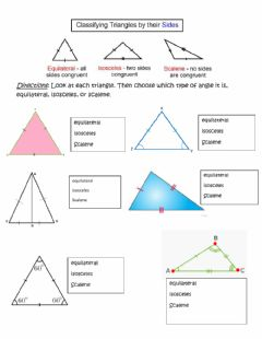 Interactive worksheet Types of triangles