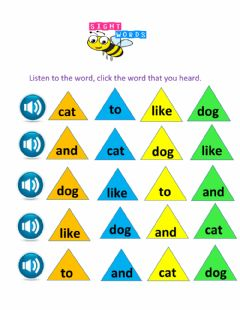 Ficha interactiva Sight Words Wk 2