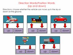 Interactive worksheet Directions-positions