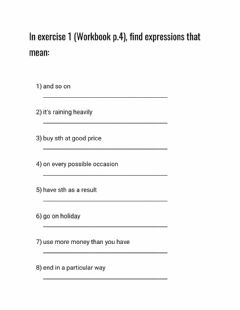 Interactive worksheet Outcomes Unit 1 Workbook p4
