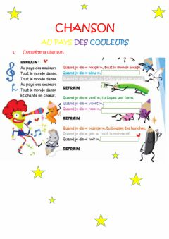 Interactive worksheet Chanson
