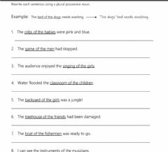 Interactive worksheet Plural Noun Possessives 2