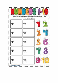 Interactive worksheet (1to10 11to20)