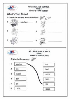 Ficha interactiva What's That Noise (Activities 1 and 2)